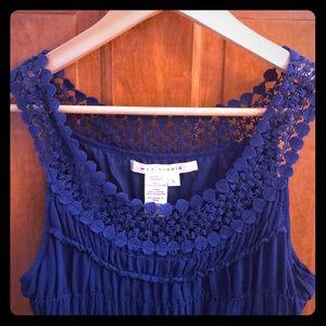 Max Studio Royal Blue Short Dress